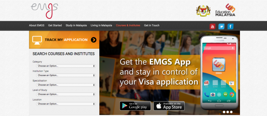 Students will be able to track their student visas using the EMGS website.