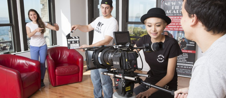 "Students seek ""a hands-on and intensive education"" at New York Film Academy. Photo: NYFA."