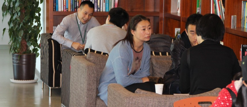 Chinese students in an agency office seek advice on studying abroad. Photo: The PIE News.