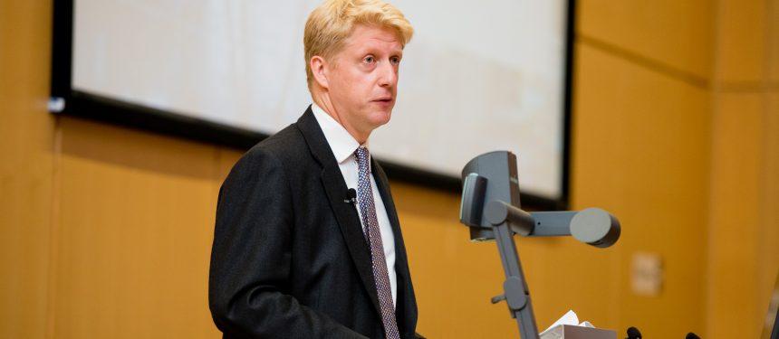 Jo Johnson presents at the Universities UK annual conference, held at Nottingham Trent University. Photo: Universities UK