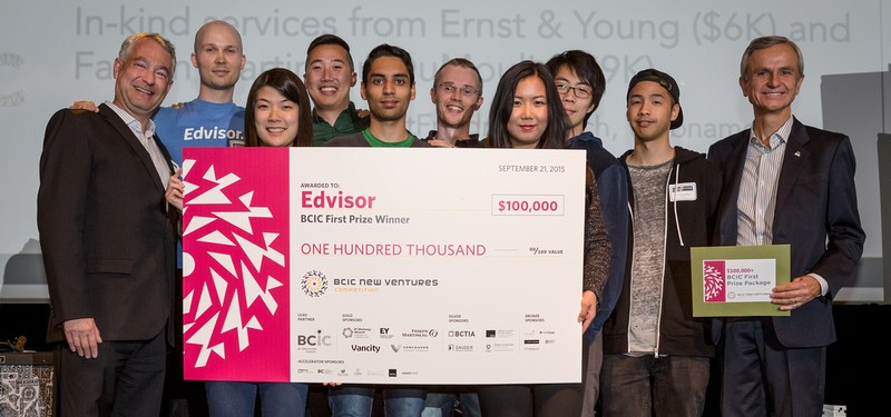 Edvisor won the top prize of CAN$100,000.