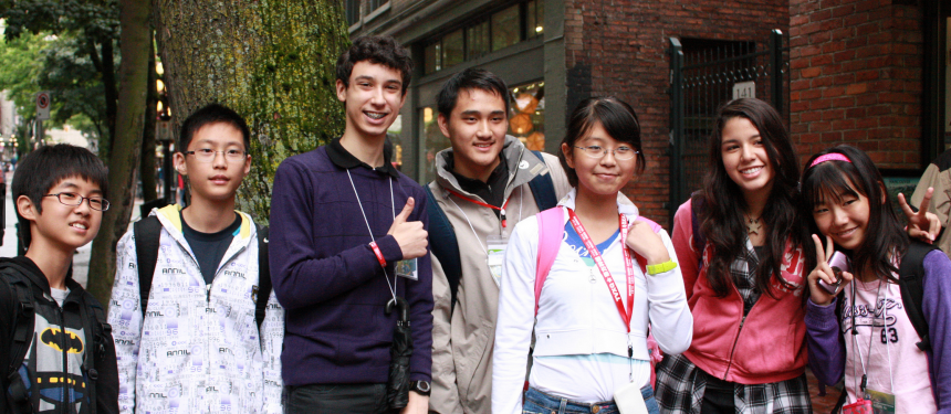 Asian students enrolled with KGIC in Canada. Photo: KGIC