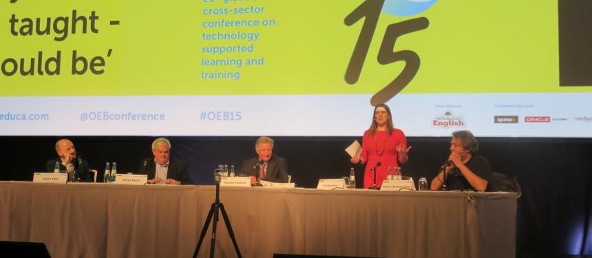Jo Swinson speaks at the OEB plenary debate. Photo: The PIE News