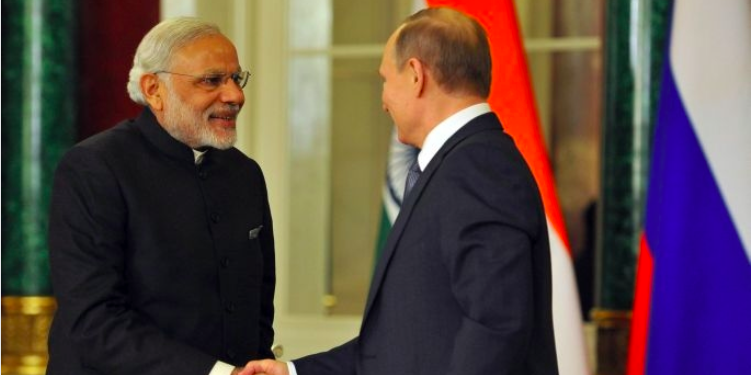 Prime Minister Modi and President Putin meet in Moscow.