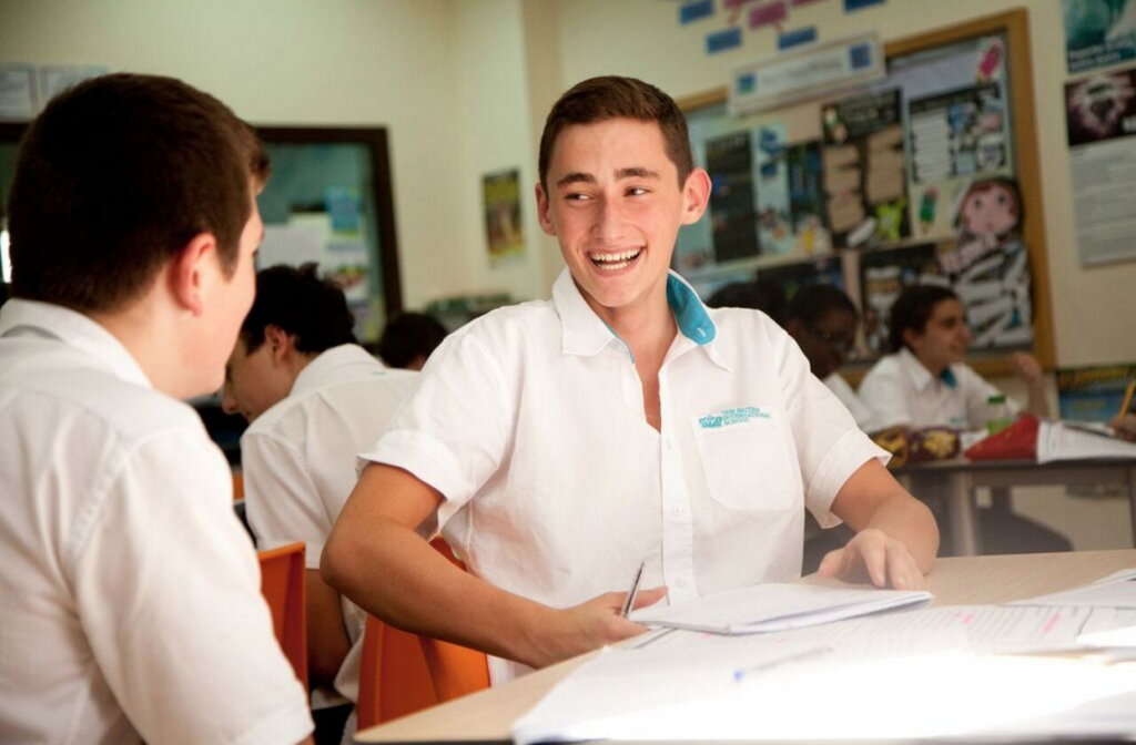A student at a Nord Anglia school. It operates 42 worldwide.