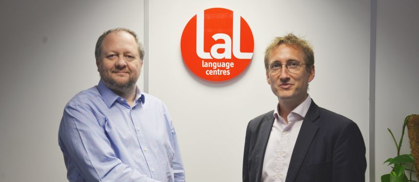 LAL Language Centres chief operating officer Mark Cook and CIS head of sixth form, Tom Cassidy. LAL has partnered with CIS to offer English plus entrepreneurship courses. Photo: LAL