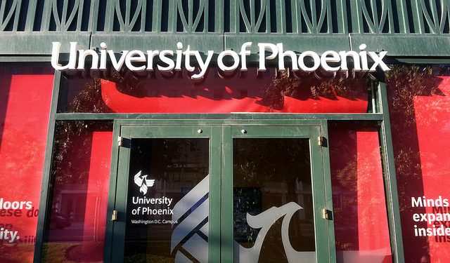 The report says students have a lack of information about private provision beyond marketing material. The University of Phoenix spent more than $665m on marketing in 2012, representing 15% of its revenues.  Photo: Ryan McKnight