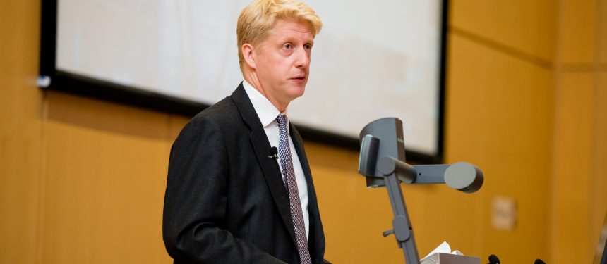 Jo Johnson presents at the Universities UK annual conference, held at Nottingham Trent University. Photo: Universities UK