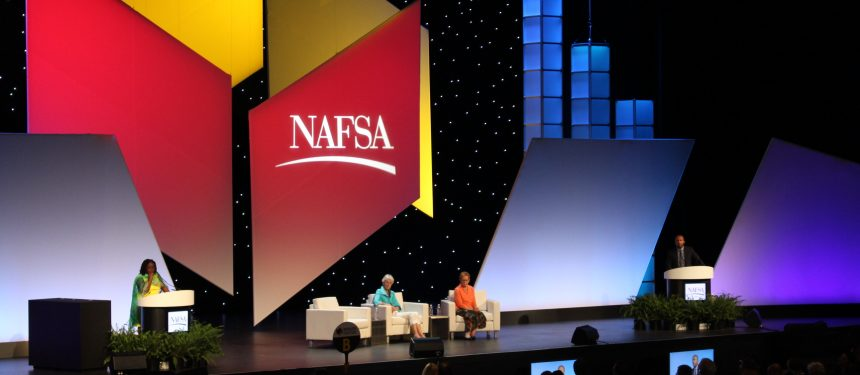 Fanta Aw and Marlene Johnson at the NAFSA conference this year in Denver. Photo: The PIE News