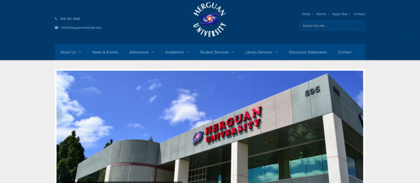 Herguan University lost its ability to recruit international students