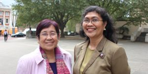 Minella Alarcon & Fay Lauraya, CHED, Philippines