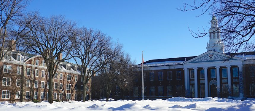 Harvard University (pictured), claims the top spot for the third consecutive year. Photo: Ted Eytan