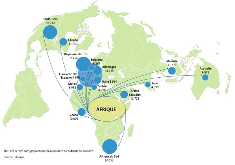 Map Of Africa For Students.Campus France Africa Buoys French International Education