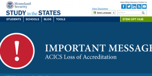 16k international students affected as ACICS loses accrediting powers