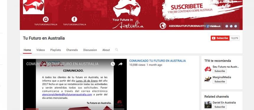 Tu Futuro en Australia Pty YouTube