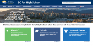 Canada: BC's new website targets int'l HS students