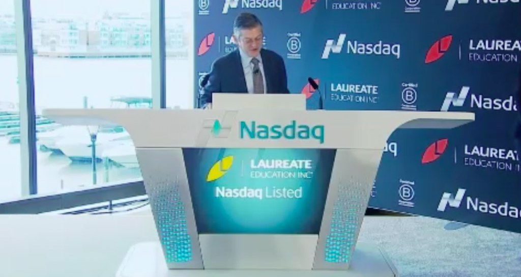 Douglas Becker opens Nasdaq for Laureate Education IPO
