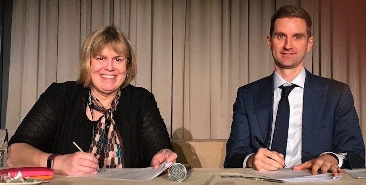 Sharon Curl Languages Canada and Bert Vercamer Sentio