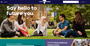 study.melbourne website for international students in Victoria, Australia