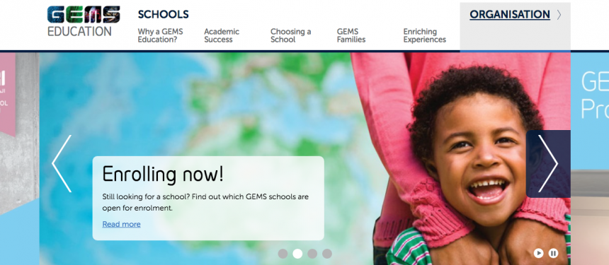 GEMS Education international schools website - reported IPO