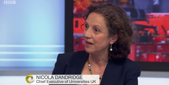 Universities UK/Office for Students chief executive Nicola Dandridge