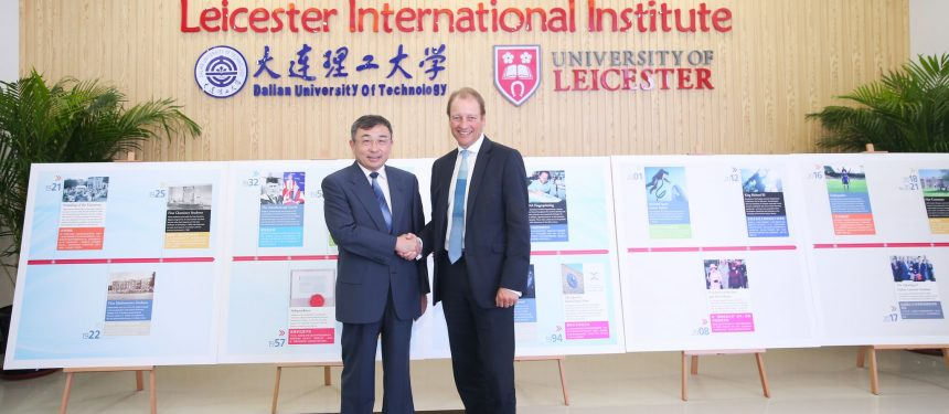 University of Leicester president and Vice-chancellor Paul Boyle visited the campus' opening ceremony.