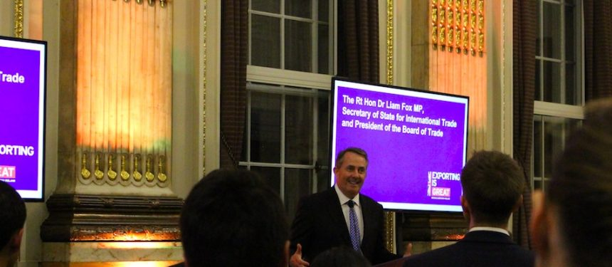Liam Fox UK Skills Partnership launch