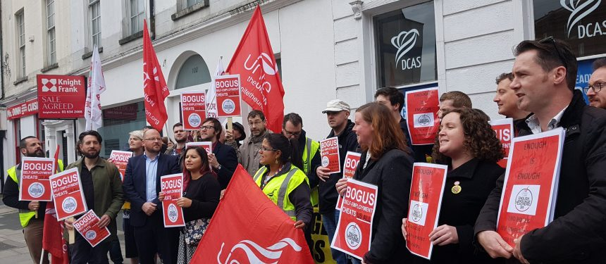 Unite protest bogus ELT self-employment