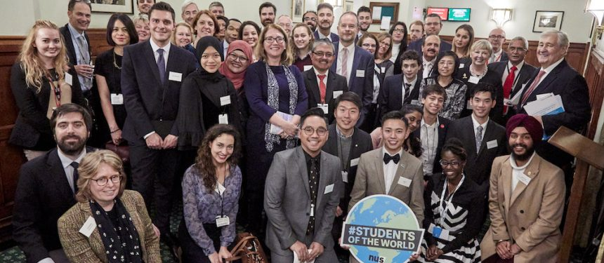 he Students of the World campaign was launched in Westminster to mark International Students' Day. Photo: NUS