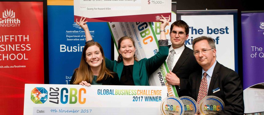 A team of MBA students from the US and Australia have taken out top prize at the recent GBC. Photo: GBC