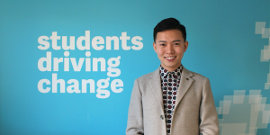 Yinbo Yu, International Students' Officer, NUS, UK