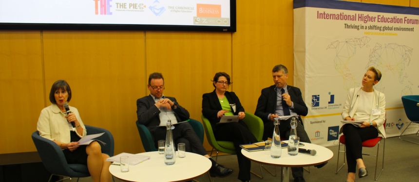 """All panellists agreed that a new internationalisation of education ambition led by the government would be helpful, with Ellis noting """"the timing has never been clearer"""". Photo: The PIE News"""