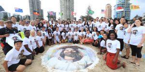 Study Gold Coast celebrates with Human Rainbow