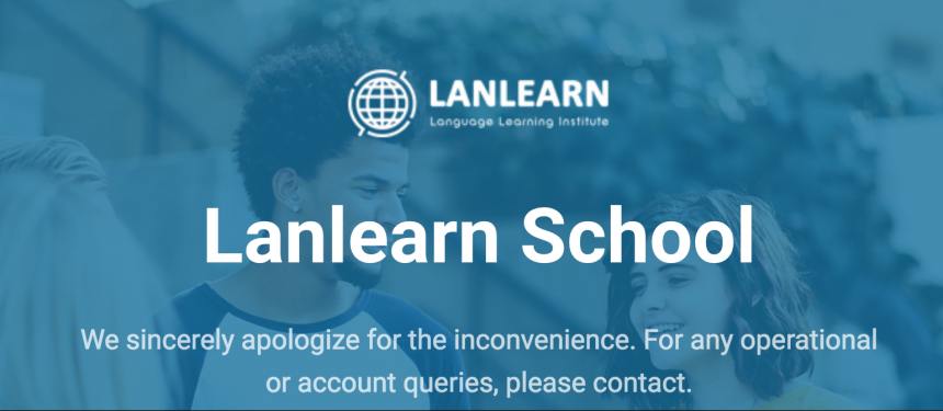 "Lanlearn has ""ceased any and all classes"" and alternative arrangements were being made for all registered students. Image: Lanlearn"