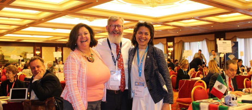 L to R: Celestine Rowland, David Niland & Giorgia Biccelli enjoying the 2018 IALC Workshop. Photo: The PIE News