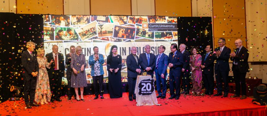 Curtin University and Curtin Malaysia celebrate their 20th anniversary. Photo: CU